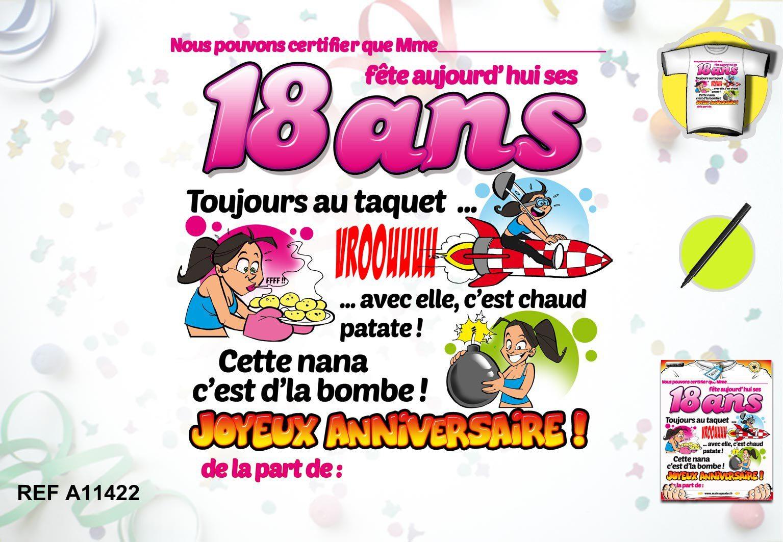 Carte anniversaire facebook 18 ans