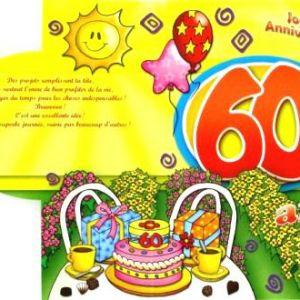 Texte anniversaire 60 ans humoristique pour femme