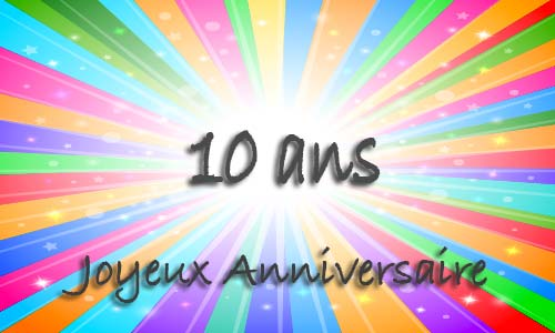 Carte anniversaire à imprimer garçon 10 ans