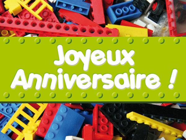 Carte anniversaire lego star wars