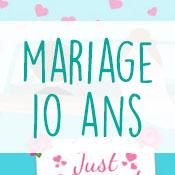 Carte anniversaire 10 ans mariage