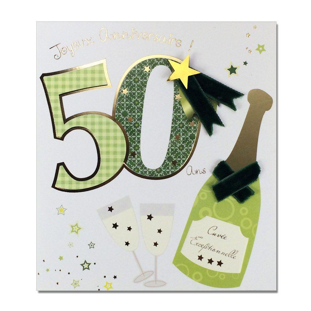 Carte anniversaire 50 ans fille