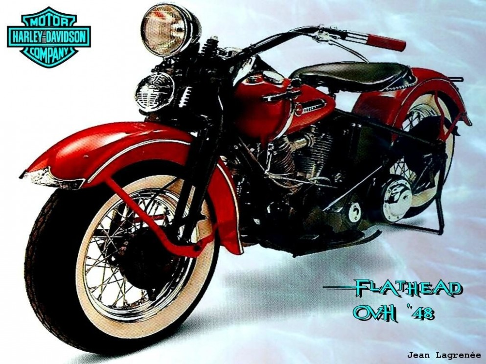 Carte anniversaire moto harley