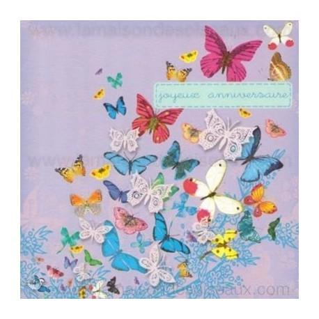 Carte anniversaire papillon a imprimer