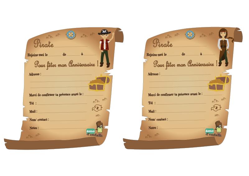 Carte Invitation Anniversaire Pirates Elevagequalitetouraine