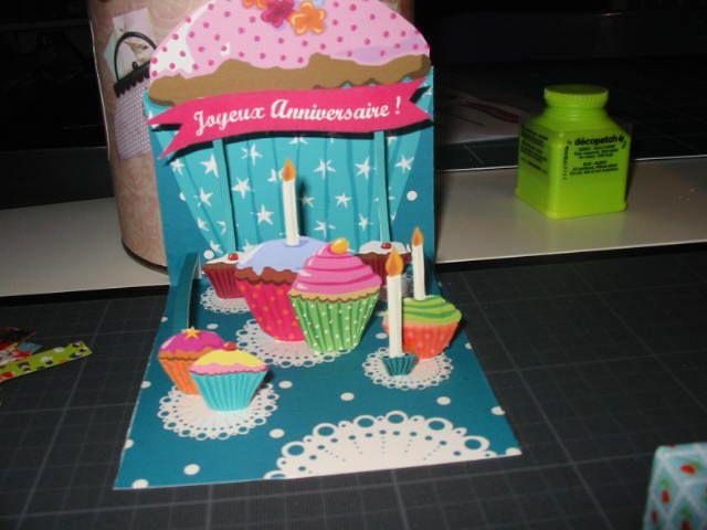 Carte anniversaire en pop up