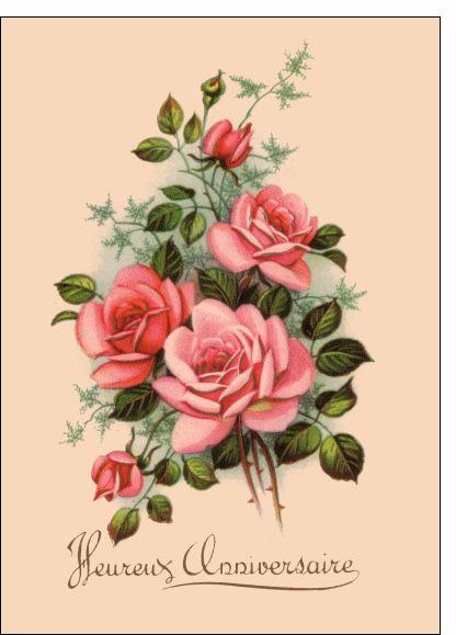 Carte anniversaire anciennes à imprimer