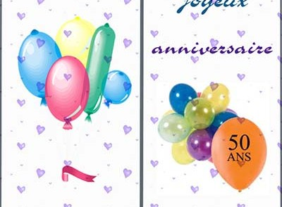 Carte anniversaire 50 ans musicale