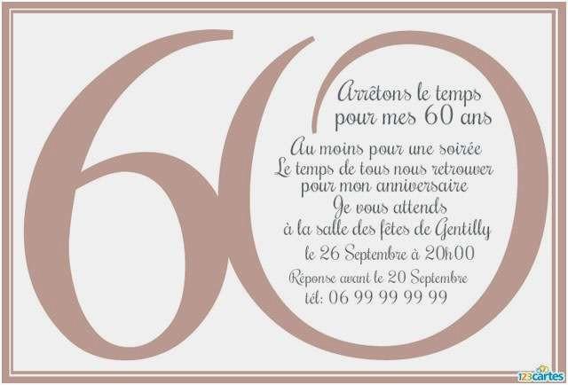 Carte d anniversaire 60 ans