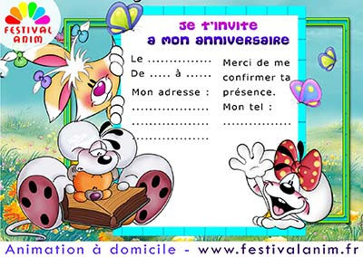 Carte anniversaire diddle