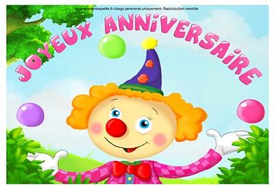 Carte anniversaire fille 3 ans à imprimer