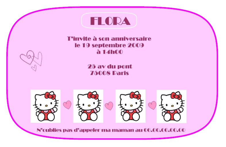 Carte Invitation Anniversaire Hello Kitty Gratuite A Imprimer Elevagequalitetouraine