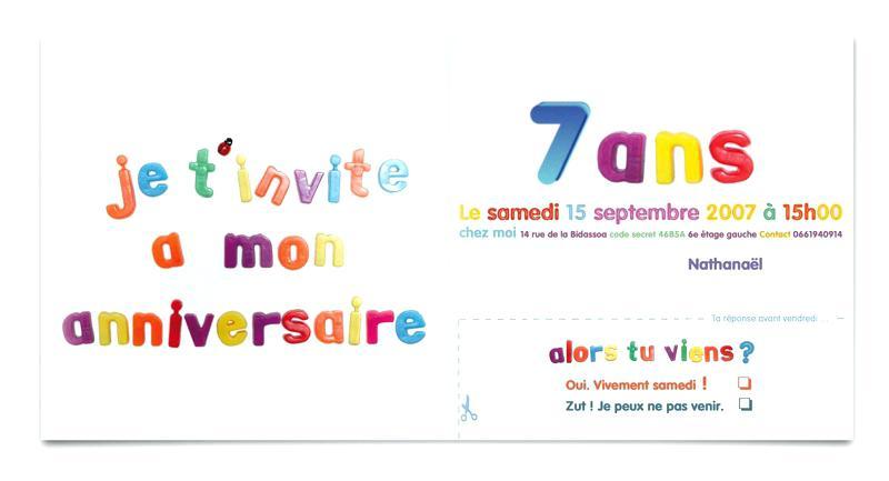 Carte Anniversaire Enfant De 7 Ans Elevagequalitetouraine