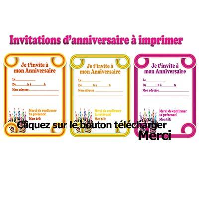 Création carte d'invitation anniversaire gratuite