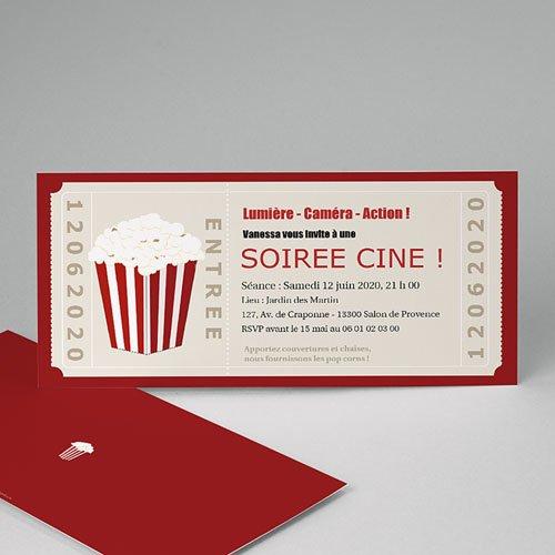 Carte d'invitation anniversaire film