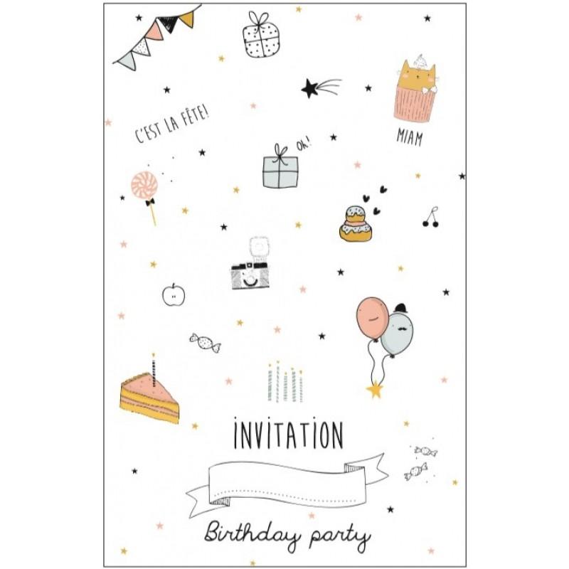 Carte d'invitation anniversaire fille - Elevagequalitetouraine