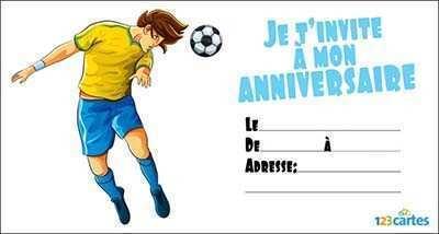 Carte anniversaire foot animée