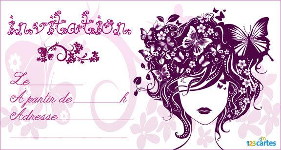 Carte d'invitation anniversaire gratuite a imprimer pour adolescent