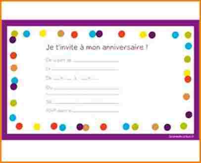 Carte Invitation Anniversaire A Telecharger Gratuitement Elevagequalitetouraine