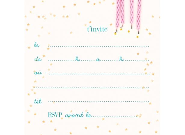 Carte d invitation anniversaire bonbon