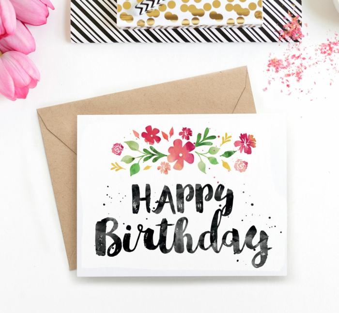 Fabriquer une carte anniversaire facile