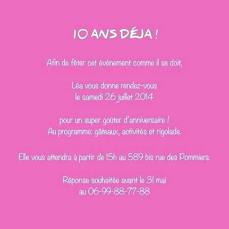 Texte Carte Anniversaire Garcon 10 Ans Elevagequalitetouraine