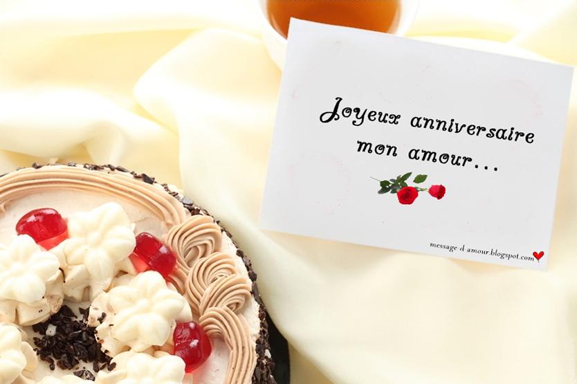 Texte pour carte anniversaire amour