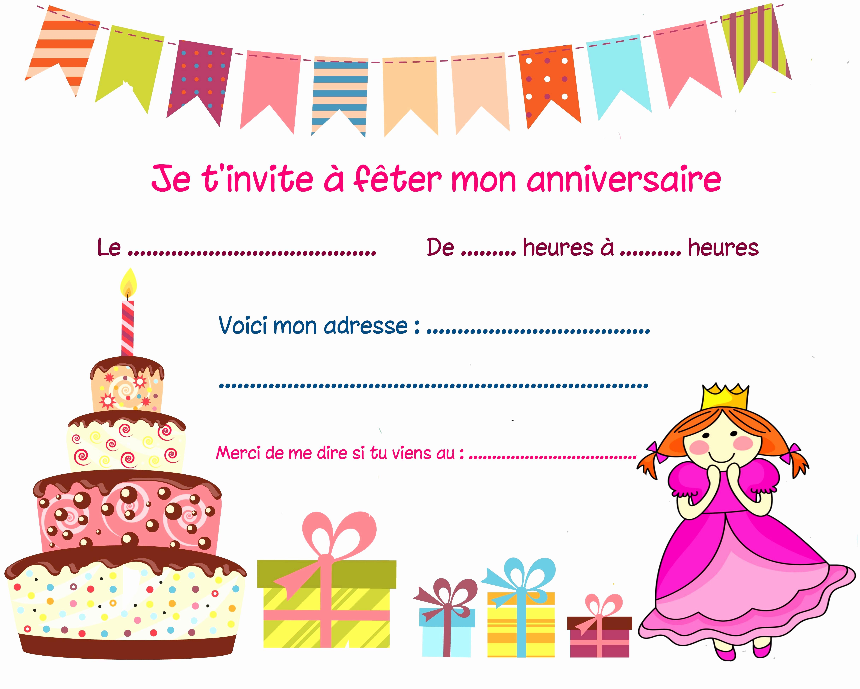 Carte d'invitation virtuelle anniversaire gratuite