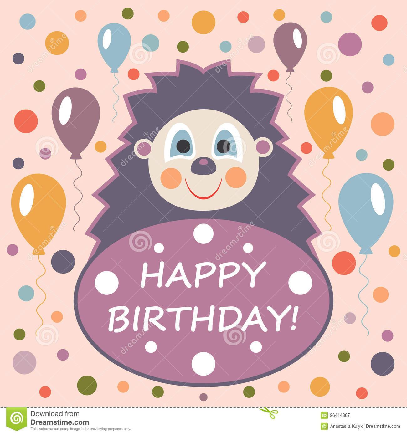Carte joyeux anniversaire mignon