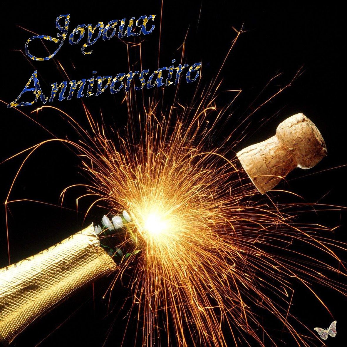 Carte Anniversaire Bouteille Champagne Elevagequalitetouraine