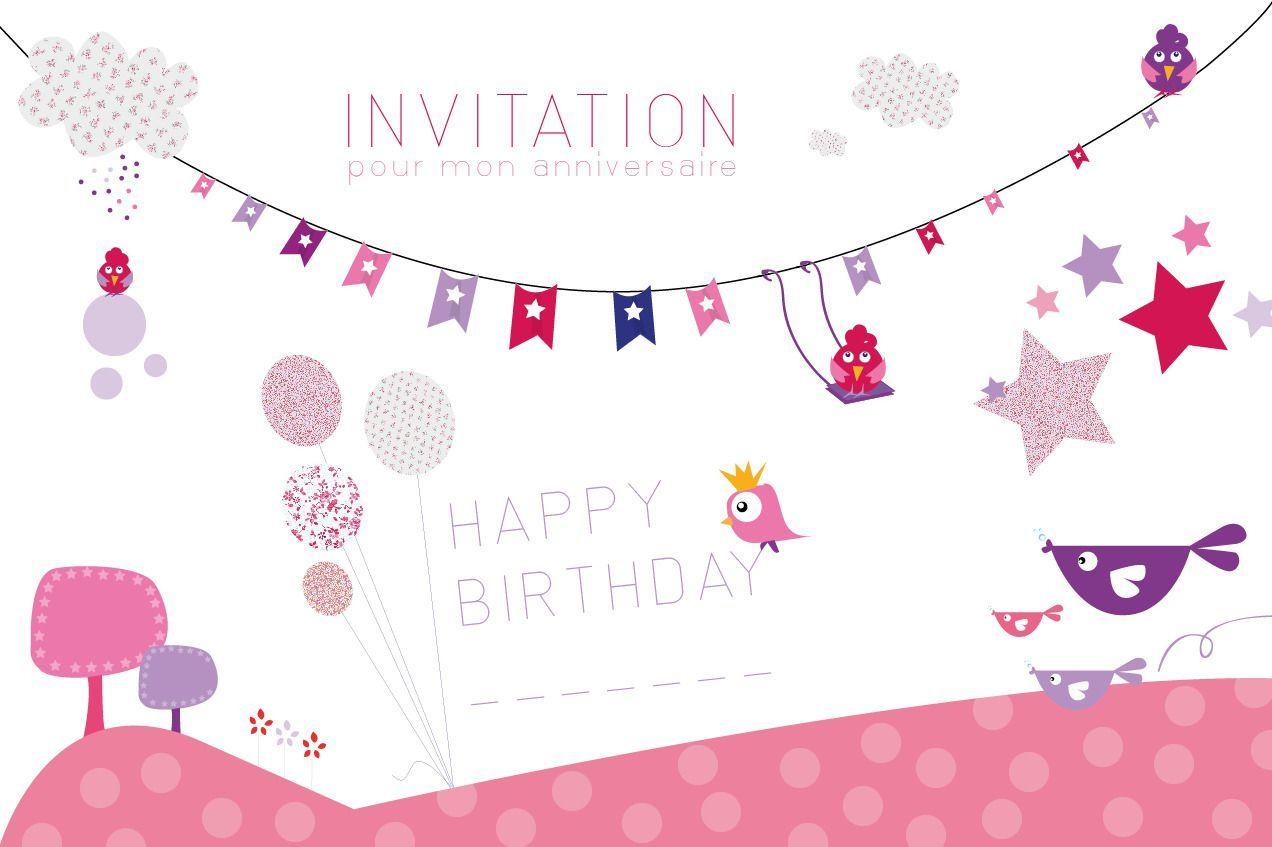 Carte d'invitation anniversaire garçon 7 ans à imprimer