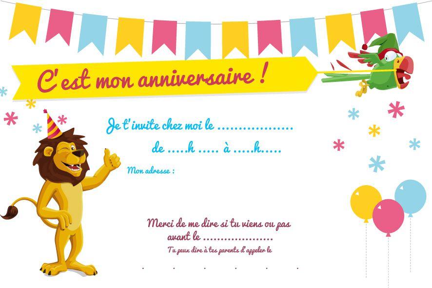 Carte Invitation Anniversaire Garcon 8 Ans A Imprimer Gratuit Elevagequalitetouraine