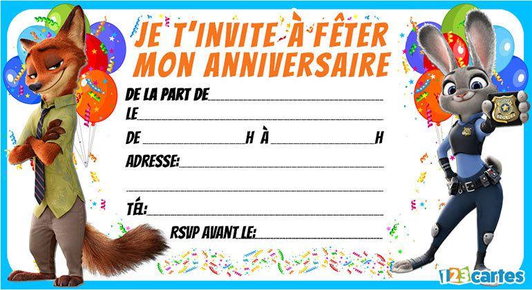 Imprimer carte d'invitation anniversaire gratuit