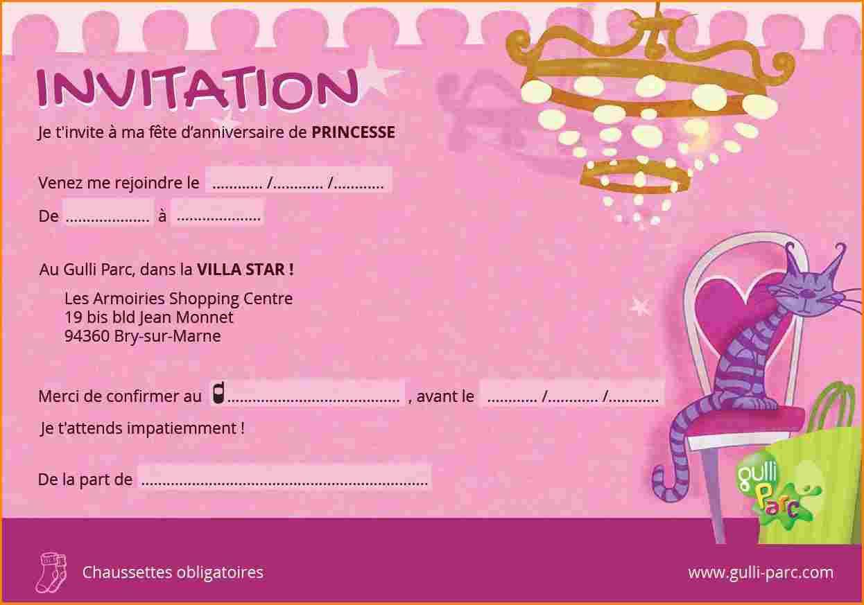 Carte d'invitation anniversaire ado fille