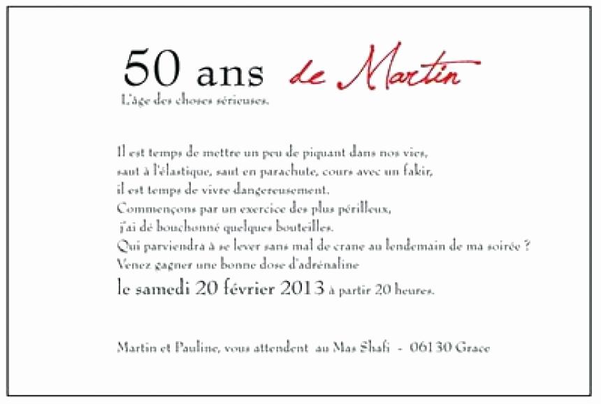 Texte d'invitation anniversaire 50 ans surprise