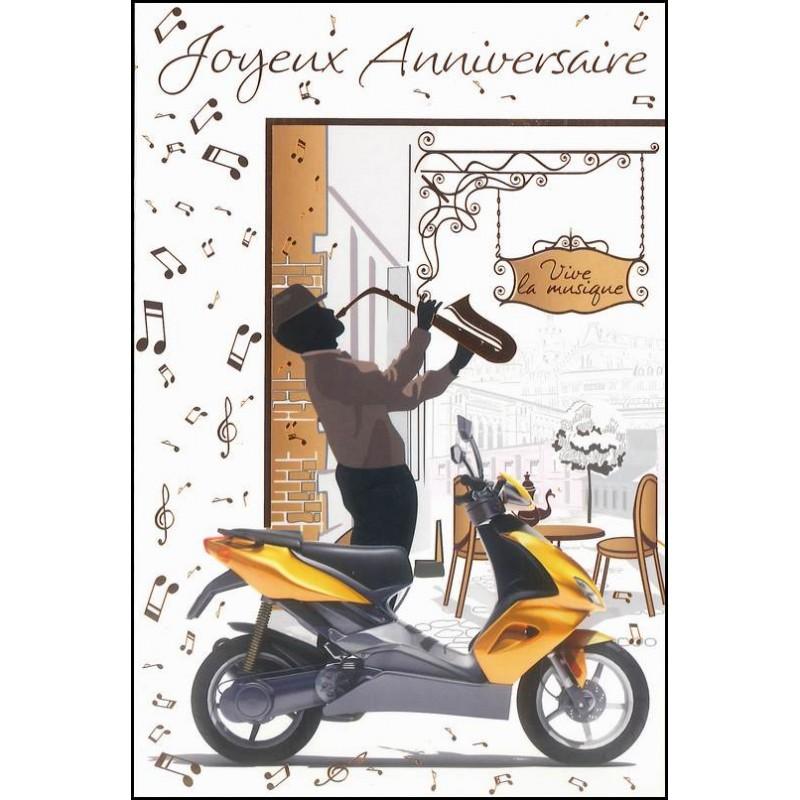 Carte anniversaire vespa