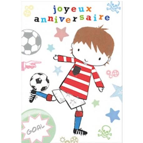 Carte joyeux anniversaire foot à imprimer