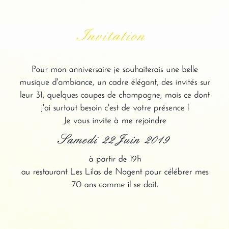 Texte carte invitation anniversaire 30 ans