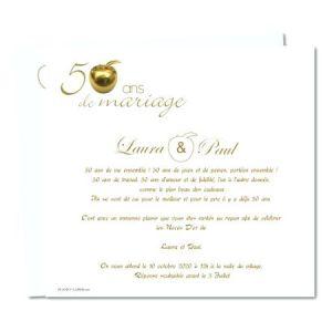Carte d'invitation anniversaire de mariage 50 ans gratuite