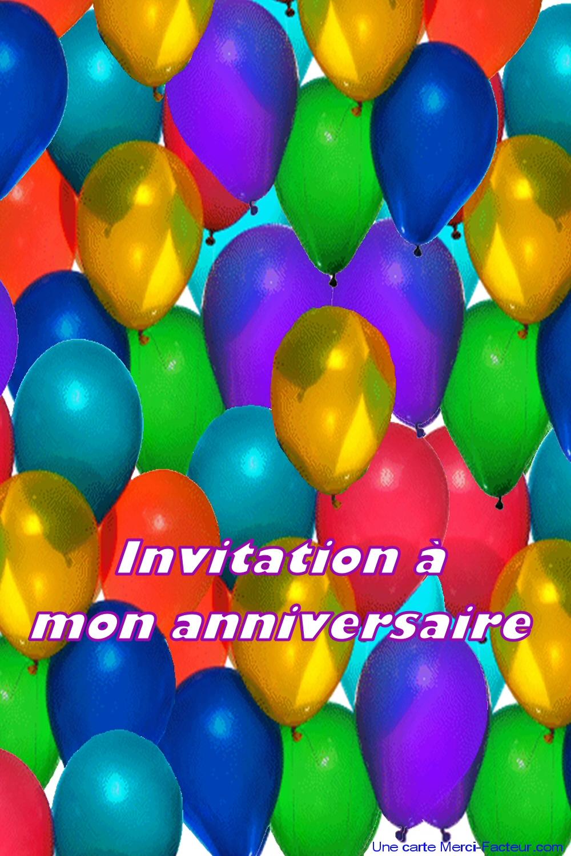 Carte d'invitation pour anniversaire gratuit a imprimer