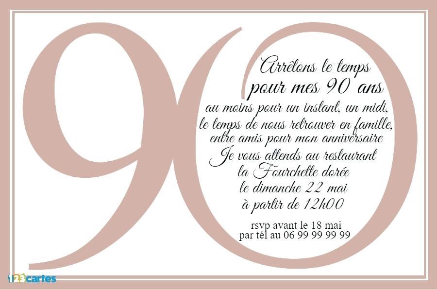 Exemple de carte d'invitation pour anniversaire 18 ans
