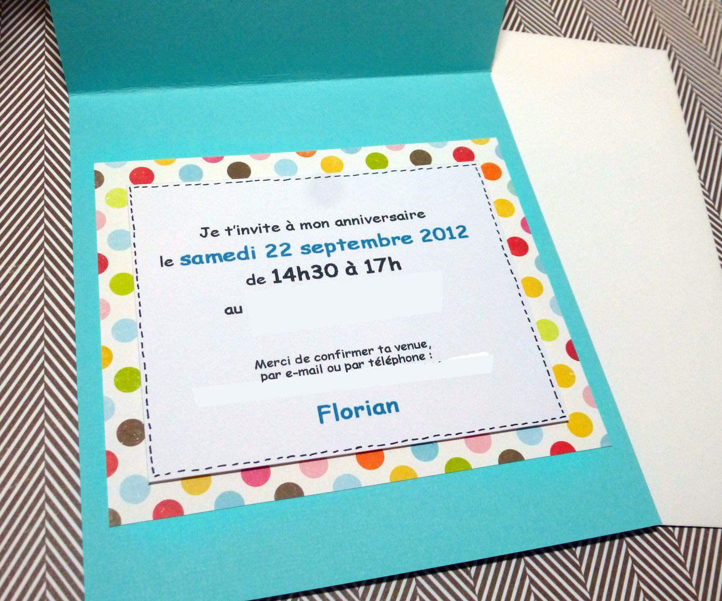 Carte invitation anniversaire garçon 2 ans