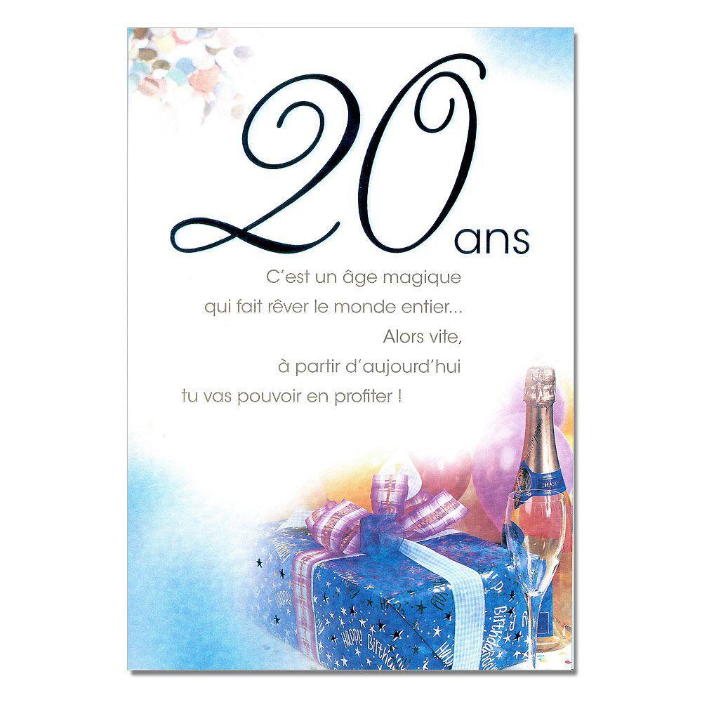 Texte pour souhaiter un joyeux anniversaire 20 ans