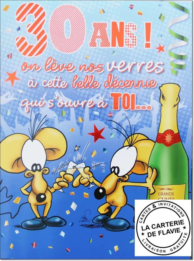 Carte Anniversaire 30 Ans Gratuite Elevagequalitetouraine