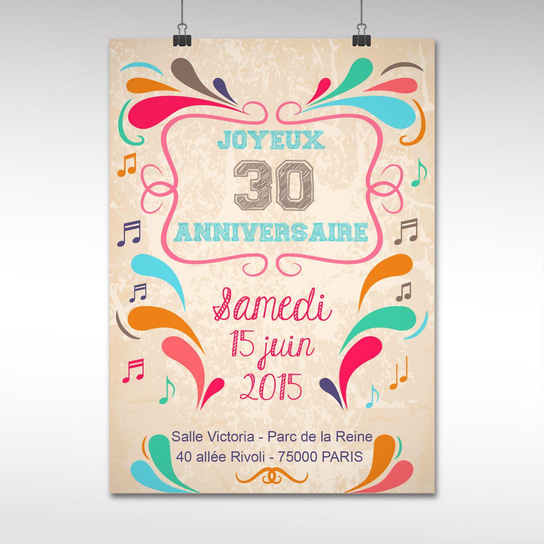 Carte Invitation Anniversaire 30 Ans Gratuit A Imprimer Elevagequalitetouraine