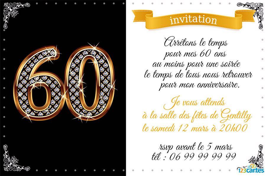 Carte d invitation anniversaire adulte a imprimer