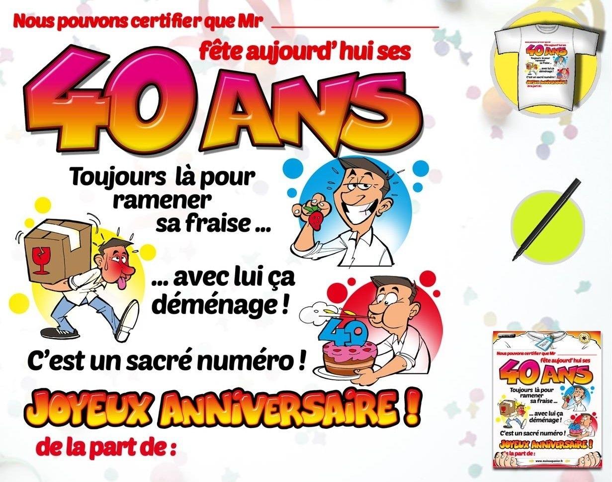 Carte Anniversaire 40 Ans Gratuite A Imprimer Pour Femme Elevagequalitetouraine