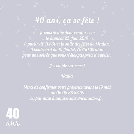 texte carte anniversaire 40 ans Texte anniversaire 40 ans pour ma soeur   Elevagequalitetouraine