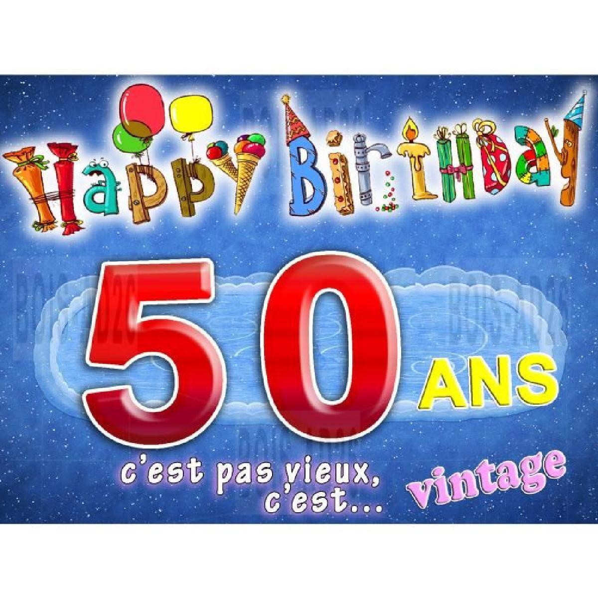 Carte anniversaire gratuite à imprimer 50 ans homme