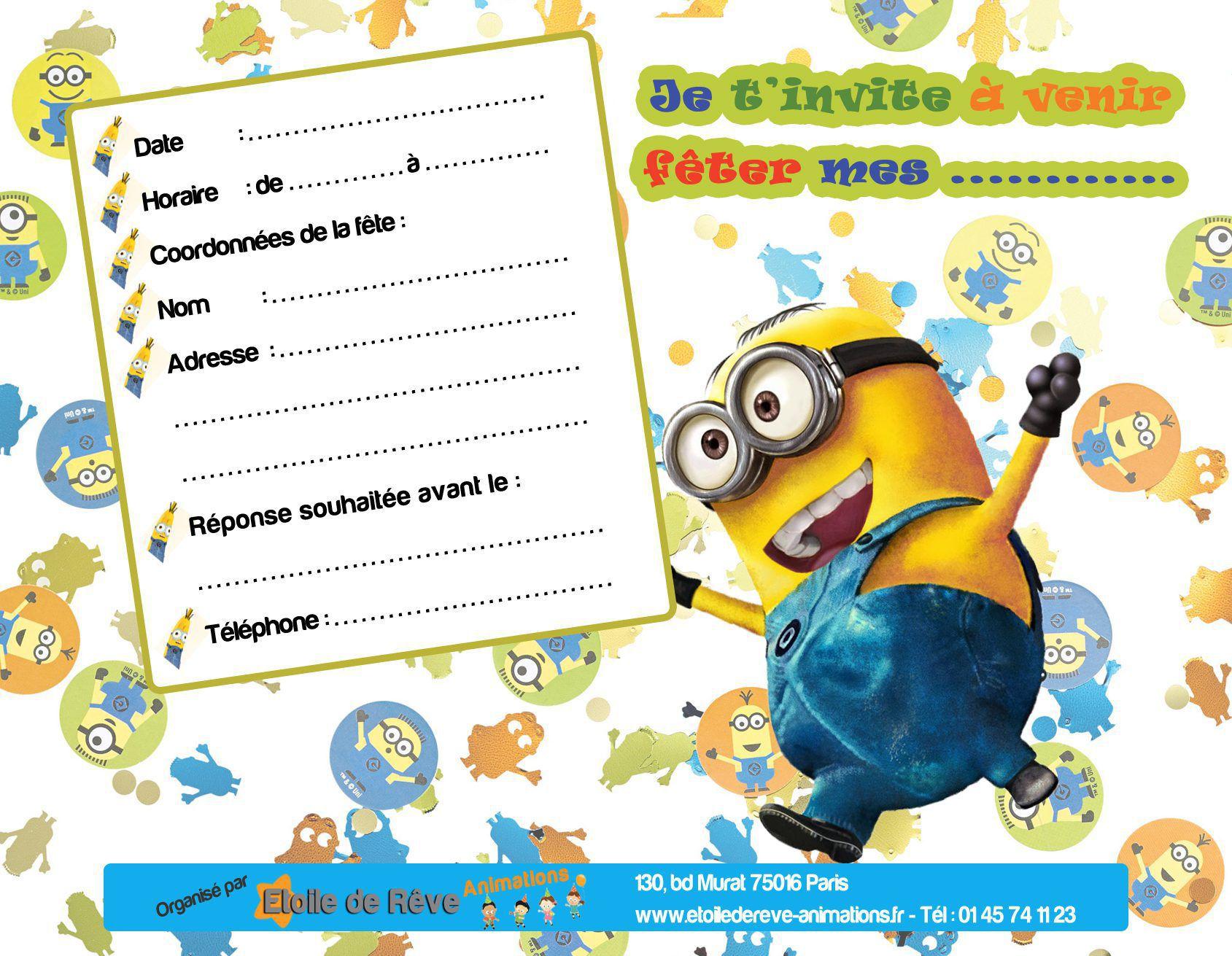 Carte anniversaire imprime